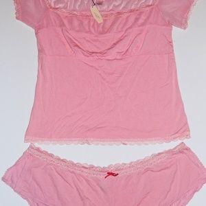 Victorias Secret Angels NWT Pink Lg Lace Babydoll